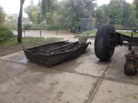 2. Wrak van aluminium roeiboot geborgen