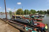 Arnhem, schepen in ASM haven tijdens de Kadedagen