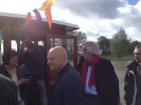 o.a. wethouder Gerrie Elfrink en Wethouder Henk Kok tijdens eerste overtocht ASM 1